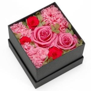 プリザーブドフラワー ピンク ボックス(M) プレゼント 記念日 公式通販サイト|edc