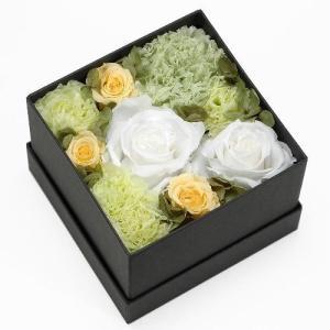 プリザーブドフラワー グリーン ボックス(M) プレゼント 記念日 公式通販サイト|edc