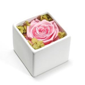 プリザーブドフラワー ピンク CUBE プレゼント 記念日 公式通販サイト|edc