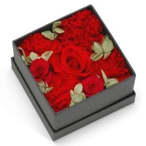 プリザーブドフラワー レッド ボックス(S) プレゼント 記念日 公式通販サイト|edc
