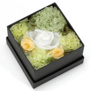 プリザーブドフラワー グリーン ボックス(S) プレゼント 記念日 公式通販サイト|edc