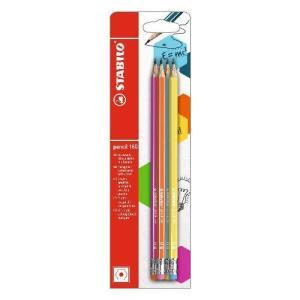 160エンピツケシゴム4本[pencil160] HB/アソート|edc