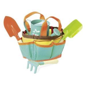 知育玩具 木製 おもちゃ キッズ フランス  ガーデニングセットバッグ