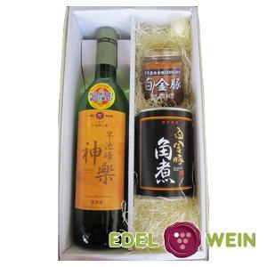 エーデルワイン 早池峰神楽ワイン 白  白金豚セット ワイン 白ワイン ワインセット|edelwein