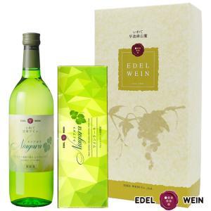 エーデルワイン ナイアガラワイン&ケーキセット  白ワインセット 甘口 (送料込) edelwein