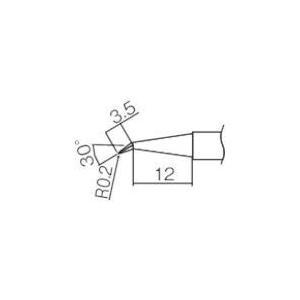 あすつく対応 HAKKO(白光)ハッコー [T12-J02] HAKKO(白光)ハッコー [白光] 0.2J型交換こて先 T12J02 294-6068 edenki