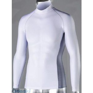 おたふく手袋 JW-625-WH-LL 冷感・消臭 パワーストレッチ 長袖ハイネックシャツ ホワイト JW625WHLL|edenki