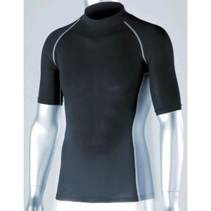 おたふく手袋 JW-624-BK-L 冷感・消臭 パワーストレッチ 半袖ハイネックシャツ ブラック JW624BKL|edenki