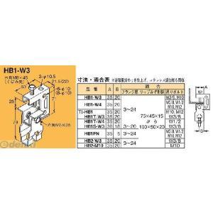 ネグロス電工 HB1-W3 吊り金具 吊りボルト用支持金具【下部金具付】 HB1W3|edenki
