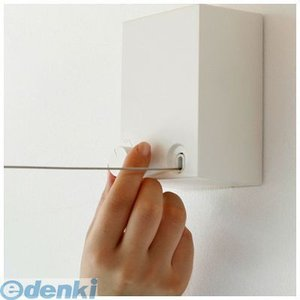 在庫 森田アルミ工業 [PID4M] ピッドヨンエム 室内物干ワイヤータイプ 4m 壁付タイプ 色:白 あすつく対応|edenki