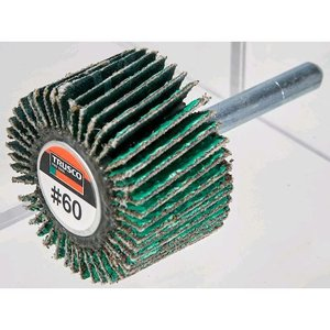 あすつく対応 トラスコ中山(TRUSCO) TRUSCO    HF5025Z80 超研削フラップホイール 外径50X幅25X軸径6 5個入 #Z80 edenki