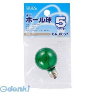 オーム電機  04-6057 ミニボール球G30 E12 5Wグリーン 046057|edenki
