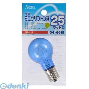 オーム電機  04-6619 昼光ミニクリプトン球PS35 E17 25W型クリア 046619|edenki