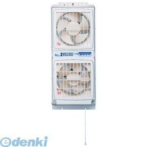 オーム電機 17-8605 高須産業 窓用換気扇(同時給排形)ウィンドウ ツインファン (引ヒモタイプ) 178605|edenki