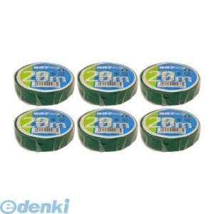 オーム電機  00-0466 【6個入】 絶縁テープ20m 緑 (受注単位 6) DE1920G 000466|edenki
