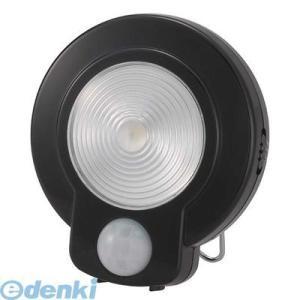 オーム電機  07-9755 LEDセンサーライト ブラック 079755|edenki