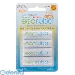 オーム電機  07-6310 エコルーバ ニッケル水素充電池 単3 4本 BT-JUTG31 4P 076310