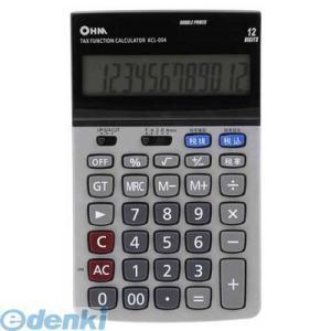 オーム電機  07-7985 2電源 税計算機能付 電卓 KCL-004 077985 edenki