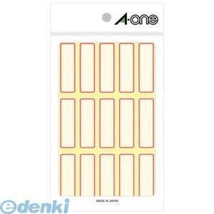 A-one(エーワン) [03004] セルフラベル 赤枠 15面 4906186030045 edenki