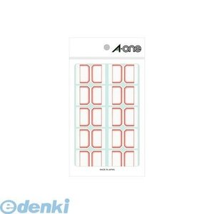 A-one エーワン 04003 セルフインデックス 大 赤 10面 edenki