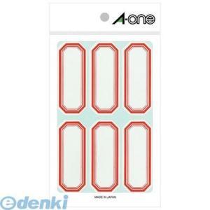 A-one(エーワン) [05001] セルフ角ペーパー 小 赤 6面 4906186050012 edenki