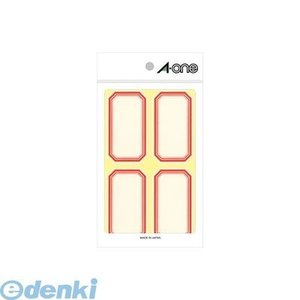 A-one(エーワン) [05004] セルフ角ペーパー 中 赤 4面 4906186050043 edenki
