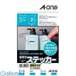 A-one エーワン 29423 手作りステッカー[インクジェット]透明タイプ はがき 1面|edenki
