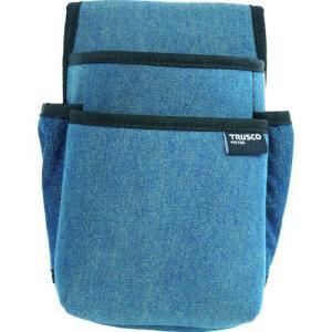 あすつく対応 トラスコ中山  TDCT101 TRUSCO デニム腰袋 小型 2段 ブルー|edenki