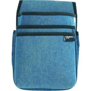 あすつく対応 トラスコ中山  TDCT102 TRUSCO デニム腰袋 中型 3段 ブルー|edenki