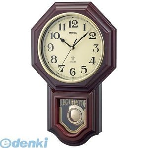 ノア精密  W-640 BR 振り子時計 鹿鳴館D× 【ロクメイカン】 ブラウン W640BR|edenki