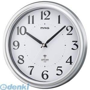 ノア精密  W-649 SM-Z 電波掛け時計 アストル 銀メタリック W649SMZ|edenki