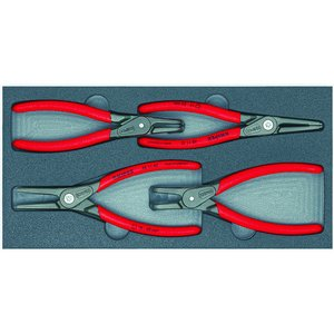 クニペックス KNIPEX 002001V09 002001V09 精密スナップリングPセット【4ホン トレイツキ】|edenki