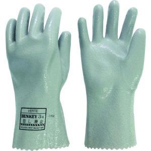あすつく対応 ミドリ安全  BENKEYNO3BSUBERIDOMELL 耐溶剤性・油脂対応手袋 ベンケイ3号B型 すべり止め付 LL|edenki
