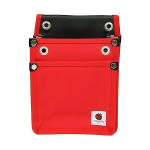 4977292147842 SK11 帆布鳶用腰袋2段 赤 TSH−2D−RD|edenki