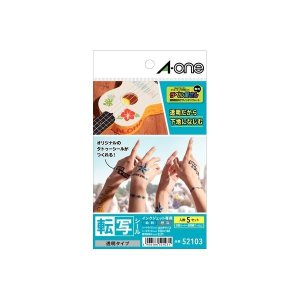 A-one エーワン  52103 転写シール透明はがき 5セット edenki