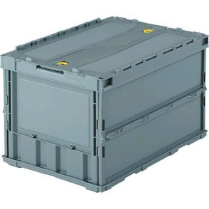 TRUSCO TR-C50B GY 薄型オリコン50L ロック蓋付 グレー TRC50BGY 344-9301|edenki