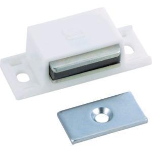 あすつく対応 TRUSCO TSM-10P-W マグネットキャッチPP樹脂 TSM10PW 300-5143|edenki