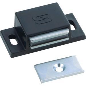 あすつく対応 TRUSCO TSM-41-BK マグネットキャッチPP樹脂 TSM41BK 300-5275|edenki