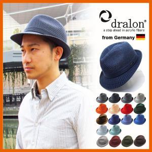 大きいサイズ 帽子 メンズ 中折れ帽 ハット ドラロン