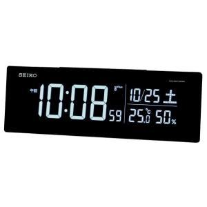 SEIKO 電波目覚まし時計 ブラック DL305K [DL305K]