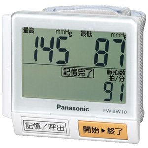 パナソニック 手くび血圧計 白 EW-BW10-...の商品画像