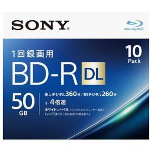 SONY 録画用50GB 2層 1-4倍速対応 BD-R追記型 ブルーレイディスク 10枚入り 10BNR2VJPS4 [10BNR2VJPS4]