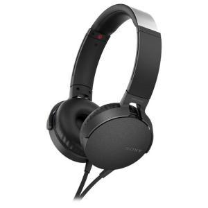 SONY 密閉ヘッドバンド型ヘッドフォン ブラック MDR-XB550AP B [MDRXB550A...