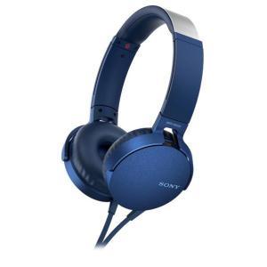 SONY 密閉ヘッドバンド型ヘッドフォン ブルー MDR-XB550AP L [MDRXB550AP...