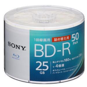 SONY 録画用1層BD-R1-4倍速25GB50枚入り詰め替え用 50BNR1VJPB4 [50BNR1VJPB4]|edioncom