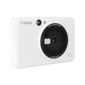 キヤノン カメラ付きコンパクトフォトプリンタ ホワイト CV123WH [CV123WH]