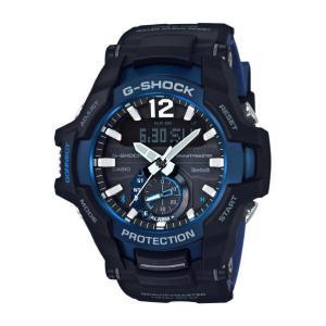 カシオ ソーラー腕時計 ブラック・ブルー GR-B100-1A2JF [GRB1001A2JF]