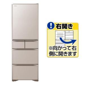 日立 【右開き】501L 5ドアノンフロン冷蔵庫 クリスタル...