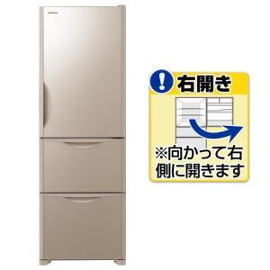 日立 【右開き】375L 3ドアノンフロン冷蔵庫 クリスタル...