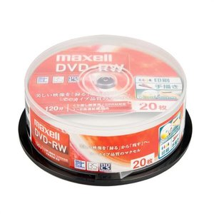 マクセル 録画用DVD-RW 1-2倍速対応 CPRM対応 インクジェットプリンタ対応 20枚入り DW120WPA.20SP [DW120WPA20SP]